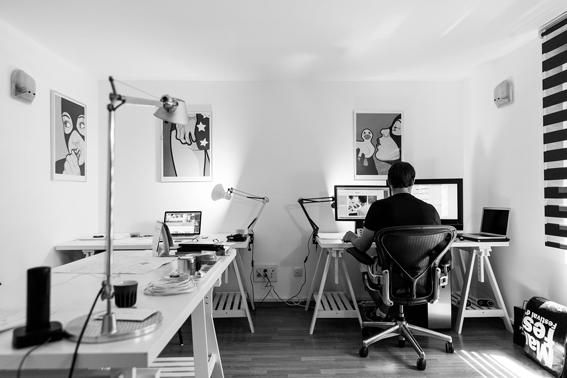 La oficina en la casa